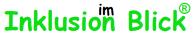 """Das Schrift-logo Inklusion im Blick-mit rechtlichen Schutz in der Farbe Grün. Das Wort """"im"""" wird kleiner geschrieben und steht über dem Buchstaben des letzten """"n"""" von Inklusion."""